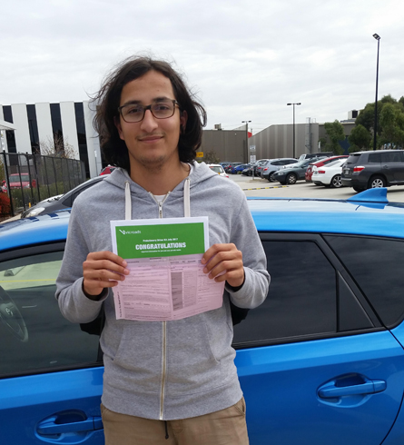 successful driver from driving school in burwood east