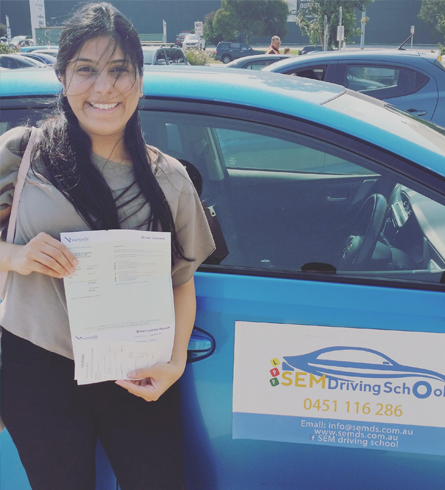 successful driver from driving school in Keysborough